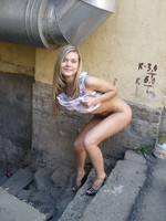 Blonde Russian Sauna Teen On The Street