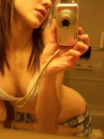 Hot Brunette Amateur Girlfriend Taking Pics Of Herself