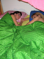 Innocent Sleepover Turns Into Nasty Lesbian Fantasy