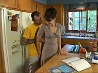 Sexy Mom Sarah Palin Gets Hard Fucking In The Kitchen