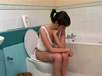 Horny Dad Followed His Daughter In Law Into Toilet