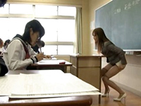 Horny Japanese Teacher Starts Masturbate In The Middle Of Class