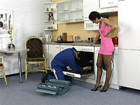 Lucky Repairman Couldn't Resist Horny Hot Ass Housewife