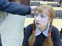 Pigtailed Schoolgirl Sold Her Pussy To Old Teacher To Pass Grade
