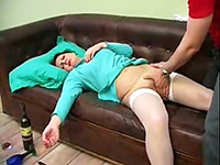 Boy Took Advantage Of Wasted Mature Maid