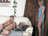 Mature Found That Teen Boy Is Crazy About Her Pantyhose