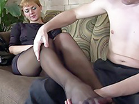 Milf Mom In Pantyhose Had No Idea How Hard She Was Teasing The Boy