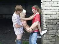 Wild Teen Orgy After School