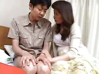 Naughty Japanese Mom Took Teen Boy's Virginity