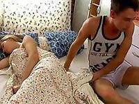 Boy Got Unwanted Boner While Sleeping With Girlfriend