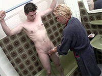 Shameless Mom Insist To Help Her Nephew Showering