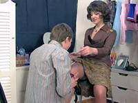 Mature Mom Caught Teen Boy Playing With Her Stockings
