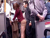 Dirty Stranger Plant His Cock Under Her Skirt In Public Bus