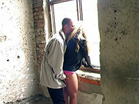 Slutty Teen Lured To Abandoned Building Where Double Penetrated