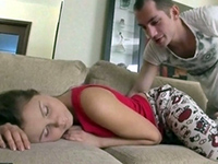 Sleeping Girl Attract Attention Of Horny Boyfriend