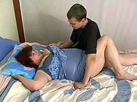 Busty Mom Teasing Teen Boy To Fuck Her