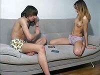 Teen strip poker porn