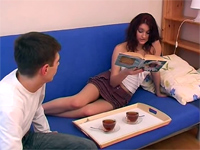 Boy Brought A Cup Of Tea To Help Her Relax From Studying