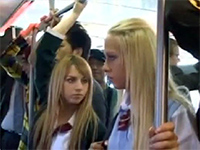 Blonde Girls Fucked In A Full Crowded Bus On Their Way To School