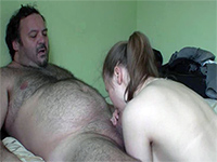 Teen Girl Really Knows How To Please Hairy Old Dude