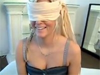 Blindfolded Girlfriend Tricked Into Blowjob