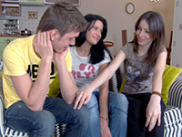 Bored Teen Girls Invited Some Boy From The Dating Website