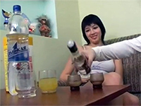 Girlfriend Gets Cock Hungry After A Few Vodka Shots