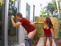 Seeing her stepbro wanking gets stepsister horny 3