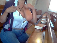 Naughty Girl Masturbating In Church