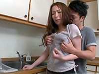 Asian Housewife Grabbed And Hard Fucked By In The Kitchen