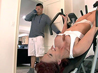 Milf Got Stuck While Working Out