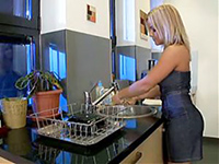 Hot Looking Blonde Fucked On A Kitchen Table