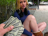 Gorgeous Girl Accept Money A Quick Blowjob
