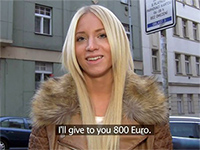 Gorgeous Foreign Blonde Earns Some Nasty Euros