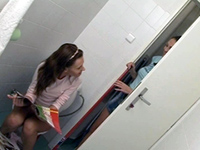 Sexy Roommate Interrupted On Toilet