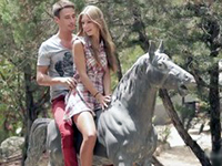 Riding The Horse Made Her Horny As Hell