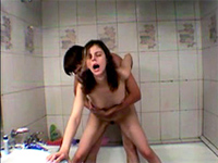Russian Teen Couple Having Wild Sex In The Bathroom