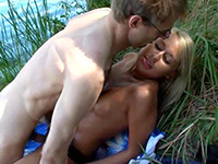 Lovely Blonde Teen Fucked By The Lake