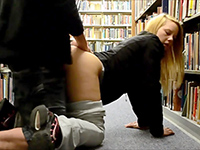 Blonde Girl Gets Fucked Pov In Public School Library