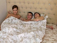 A Friendly Sleepover Turns Into A Wild Threesome Sex