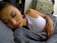 Asian Girlfriend Gets Woken Up For A Fuck