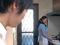 Japanese Boy Finally Gathered Courage To Tell His Housewife That Wish To Fuck Her