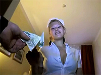 Real Hotel Maid Takes Money For Quick Sex