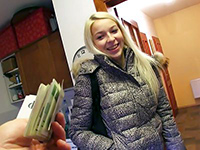 Naive Blonde Seduced On The Street To Fuck For Cash