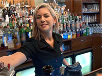 Stunning Czech Bartender Is Paid For A Sex Break At Work
