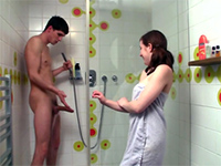 College Roommate Caught Jerking Off Under The Shower
