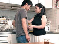 Japanese Boy Groped Mature Aunt In The Kitchen