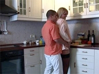 Sexy Blonde Gets Warmed Up And Fucked In The Kitchen