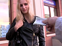 Blonde Czech Girl Agrees To Take Cash For A Quick Fuck