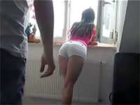 Dude Couldn't Resist A View Of Her Bent Over Ass